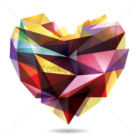 Heart shape : Geometrical heart shape