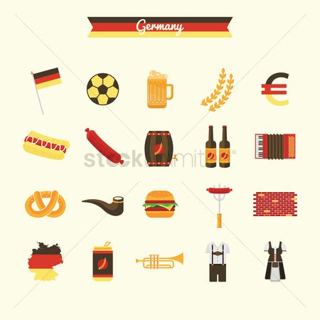 Hotdogs : Germany icons collection