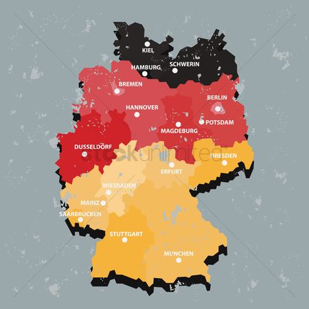 Tricolored : Germany map