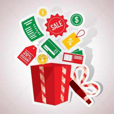 Retail : Gift box and shopping icons