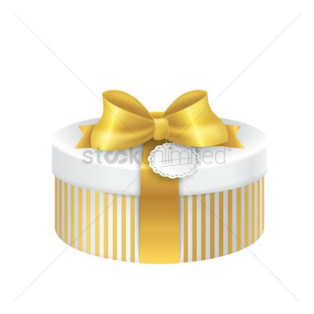 Surprise : Gift box with ribbon and tag