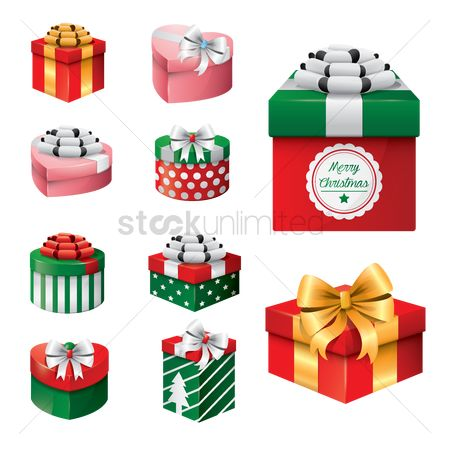 Gifts : Gift box with ribbon