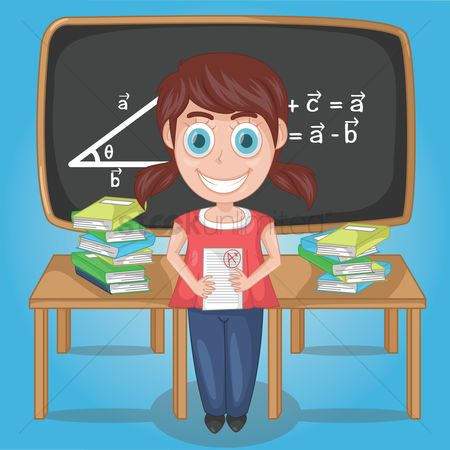 Formulas : Girl scored with flying colours in her mathematics examination