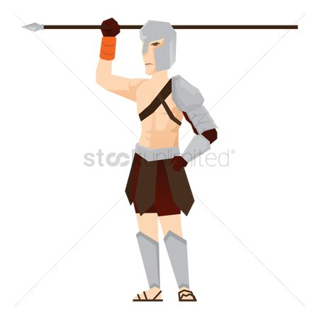 Soldiers : Gladiator soldier with spear