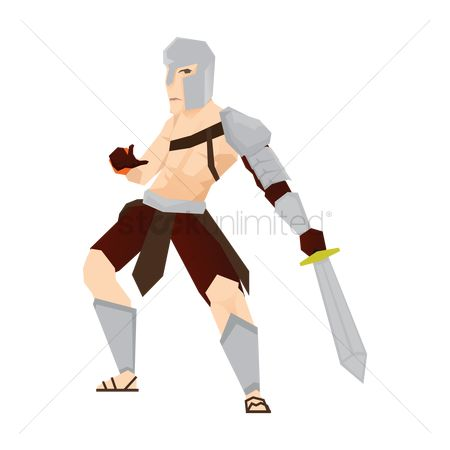 Arm : Gladiator soldier with sword