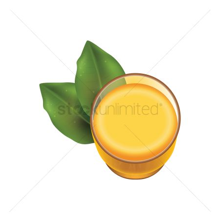 Mangoes : Glass of juice