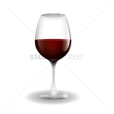 Red wine : Glass of wine