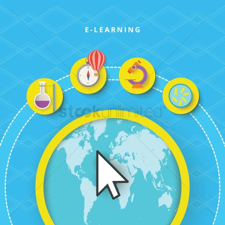 Physic : Global e-learning concept