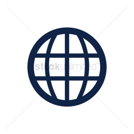Earth  graphic vector : Globe icon