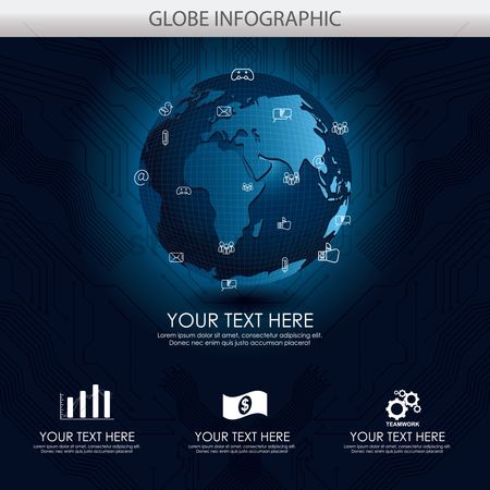 Country : Globe infographic