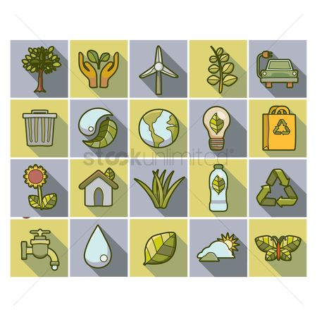 Biology : Go green icons