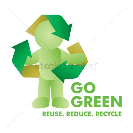 Pollutions : Go green recycle concept