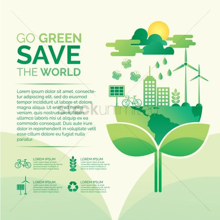 Save trees : Go green save the world concept