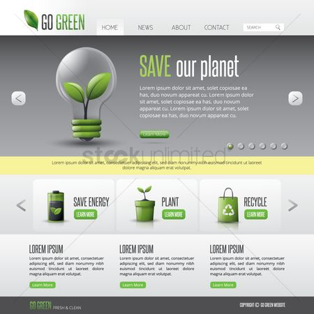 Energy : Go green web page