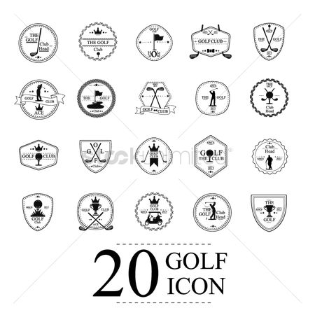 Insignias : Golf icon collection
