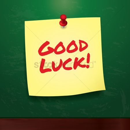 Sticky note : Good luck greeting