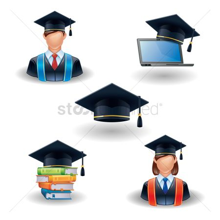 Boys : Graduation icons