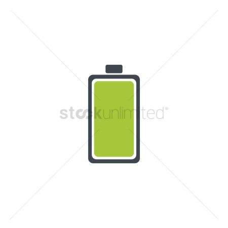 Charging icon : Green battery level indicator icon