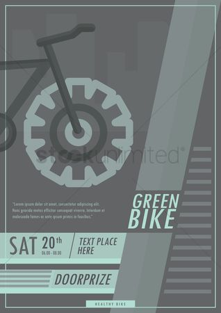 Cycle : Green bike poster