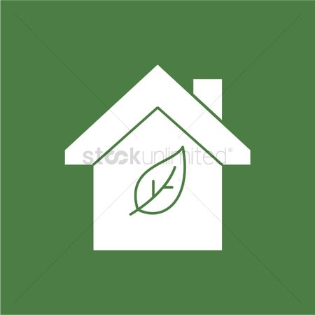 Icons : Green house icon