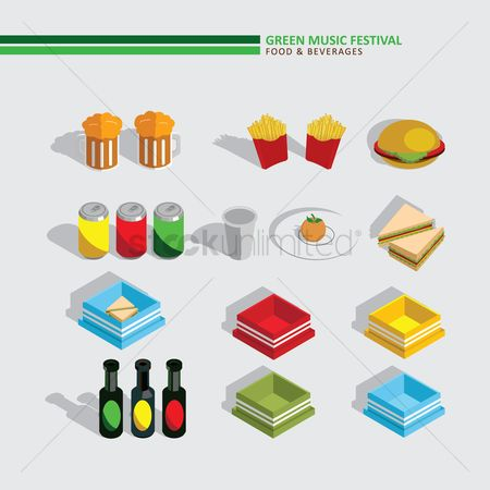 Plates : Green music festival food and beverages