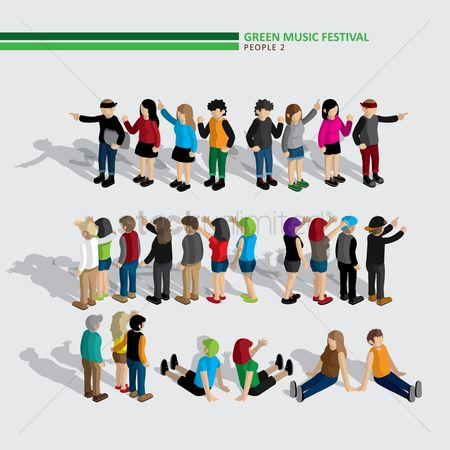 Trendy : Green music festival people