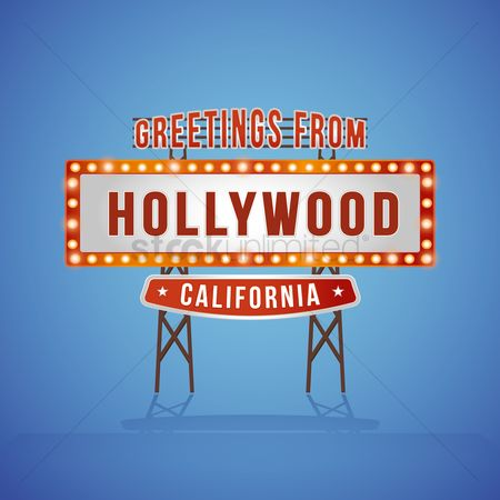 Signages : Greetings from hollywood