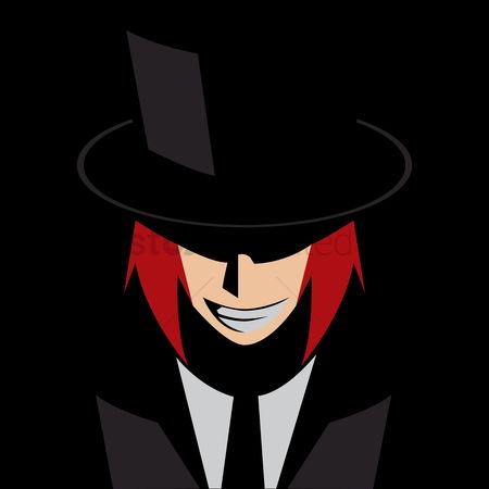Tux : Grinning man in a suit and hat