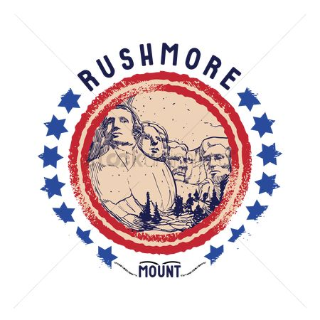 Insignias : Grunge rubber stamp of rushmore mount