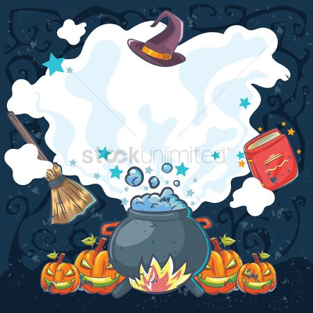Oct : Halloween design with copyspace