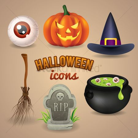 Broom : Halloween icons