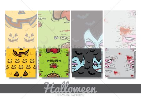 Drippings : Halloween seamless pattern collection