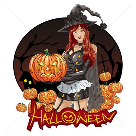 Jack o lantern : Halloween witch wallpaper