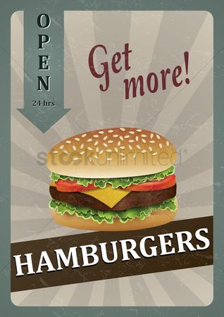 Junk food : Hamburger poster