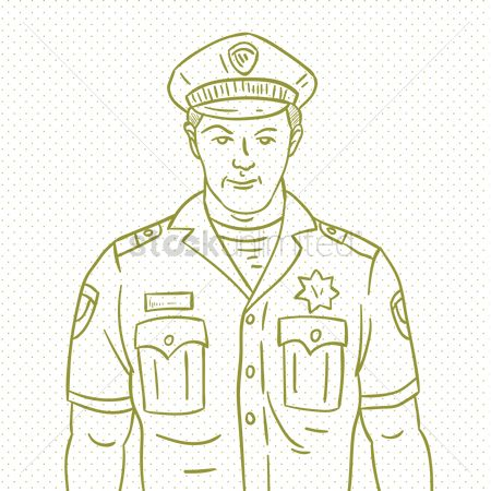 Authority : Hand drawn policeman