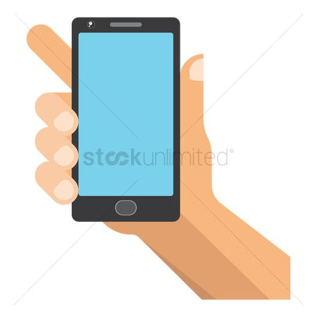 Smart : Hand holding a mobile phone
