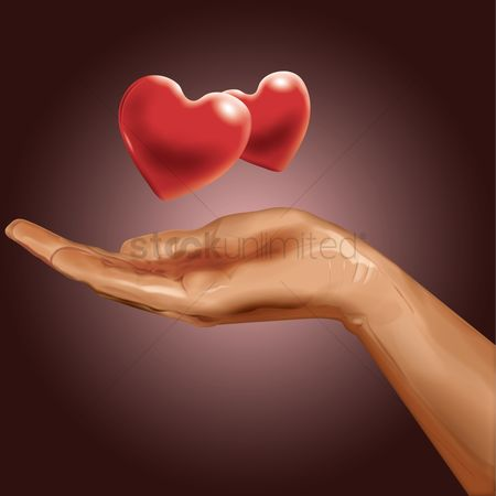 Romance : Hands with hearts