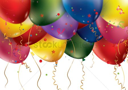 Party : Happy birthday with balloons theme