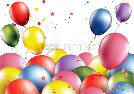 Balloons : Happy birthday with balloons theme