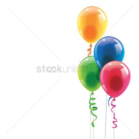 Balloons : Happy birthday with balloons