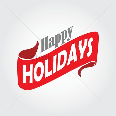 Cloth : Happy holidays label