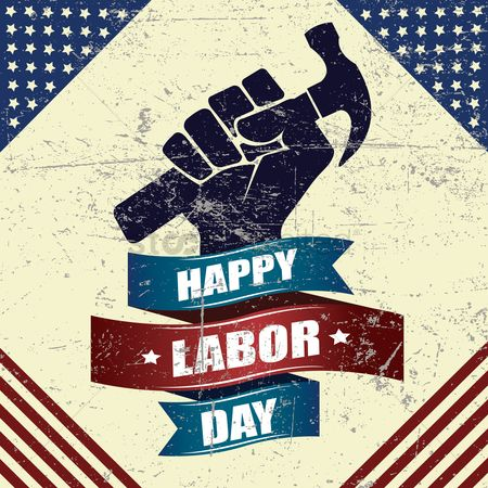 United states : Happy labor day design