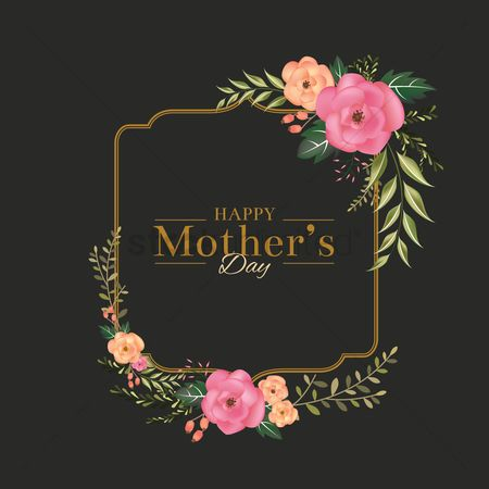 Floral : Happy mothers day card