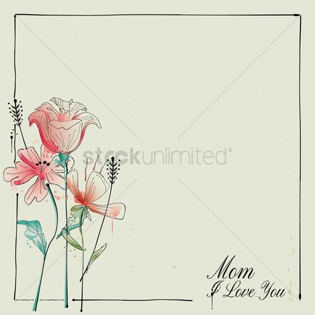 Styles : Happy mothers day card