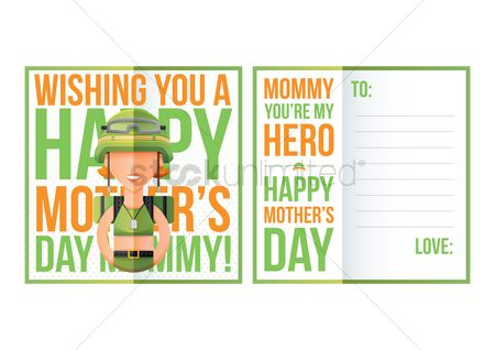 Soldiers : Happy mothers day greeting