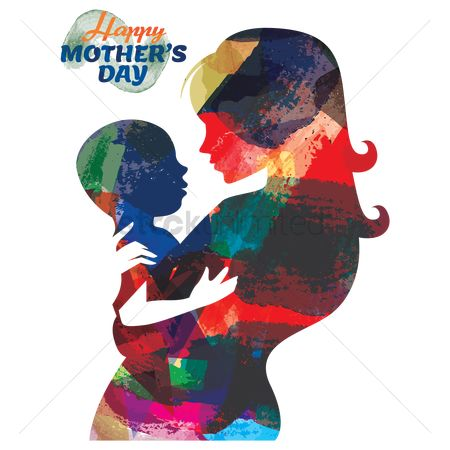 Double exposure : Happy mothers day