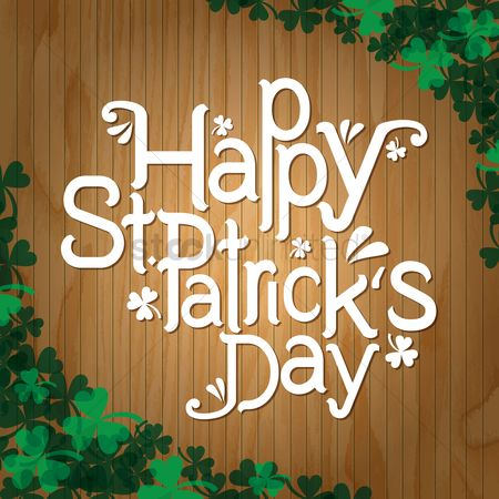 Wooden sign : Happy st patricks day