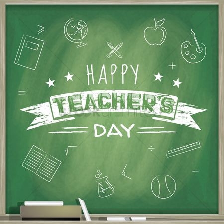 Blackboard : Happy teacher s day