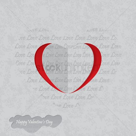 Days : Happy valentine s day greeting card
