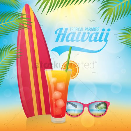 Drinking : Hawaii beach